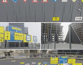 German Traffic Signs Package 1 3D model