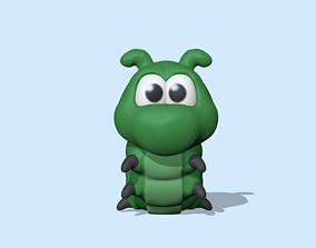 3D print model A cute Caterpillar to decorate and play
