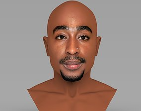 Tupac Shakur bust ready for full color 3D printing