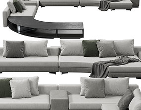 3D model Minotti Daniels sofa