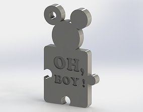 3D print model Mickey Mouse keychain