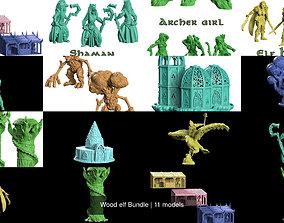 Wood elf Bundle 3D model