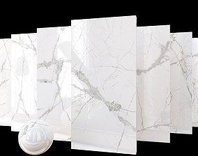 3D Marble Set Museum Glacier White Set 80x160 Set 2