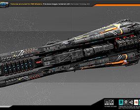 3D model Federation Destroyer B5