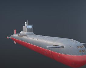watercraft 3D asset Submarine Hand-Painted