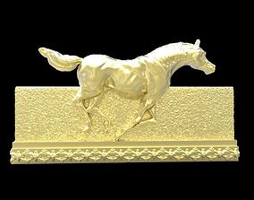3D print model stallion Galloping Horse in reliefs