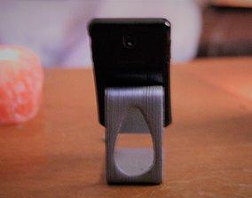 Curvy Phone Stand 3D printable model