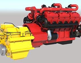 Ship Diesel Engine VRay PBR 3D model