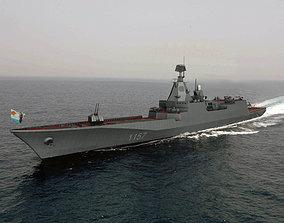 3D Soviet Navy Project 1157 Cruiser C4D