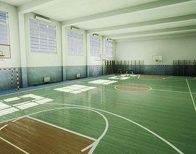 School Gym 3D model game-ready