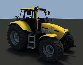 plowing Tractor agricultural machinery 3D