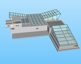 3D model korea Subway station