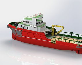 3D model 47m Anchor Handling Tug ship
