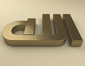 Allah font alhadari 3D model