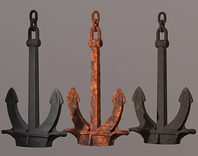 3D asset low-poly Hall anchor