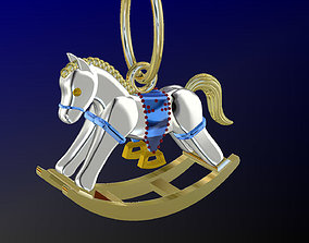 pendant rocking horse 3D printable model