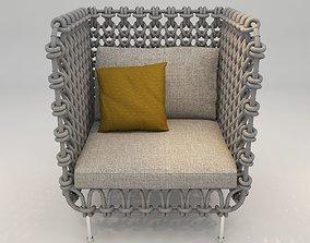 Lounge Sofa 001 3D model