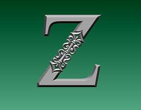 3D printable model letter Z