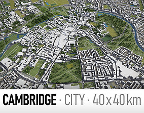 3D model Cambridge - city and surroundings