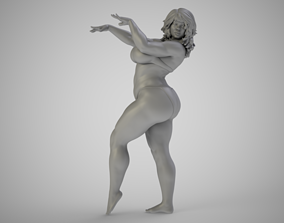 3D printable model girl Dancing In The Sand