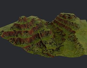 3d landscape piece for real time rendering VR / AR ready