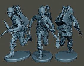 3D print model German soldier ww2 run2 G4