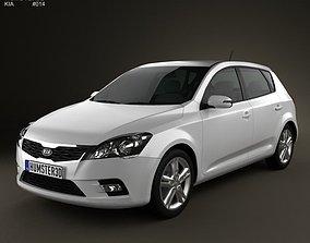 3D Kia Ceed Hatchback 5-door 2011