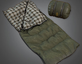 3D model Sleeping Bag 01 - CMP - PBR Game Ready