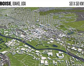 3D Boise Idaho USA 50x50km