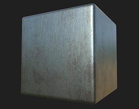 Scratched Steel PBR Texture 3D