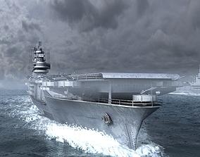 3D asset midway aircraft carrier fleet Yorktown Class
