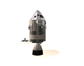 3D model Apollo Spacecraft