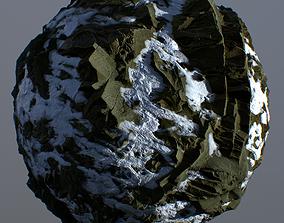Snowy Cliff PBR 3D