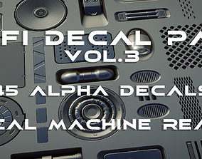 45 plus 1 Scifi Alpha Decal panel pack vol 3 3D model