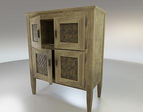 3D model Worn farmhouse Cabinet Dresser