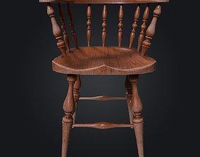 3D asset Old Windsor Chair 001
