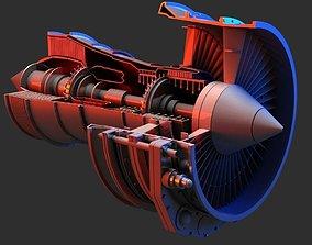 Jet Engine 3D Model jet