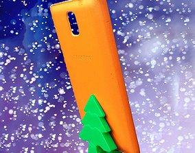3D printable model Mini christmas tree stand for phone or