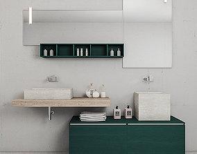 Bathroom furniture set La Fenice 3D model