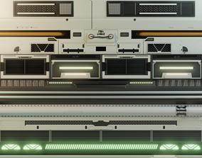 Sci-fi trimsheet 3D
