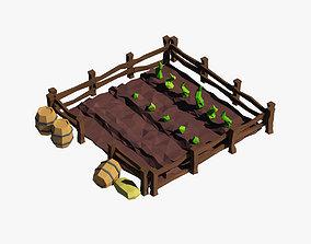 Cartoon garden 3D model