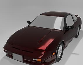 3D asset Nissan 180sx