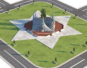 3D model Roundabout Road
