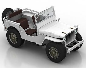 Car 1945 Willys Jeep 3D model