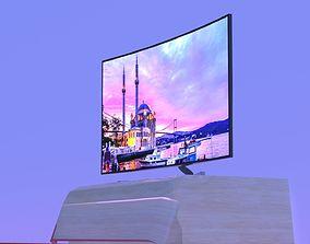 Curved TV 3D asset