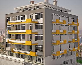 3D model Apartment Building 001 V9