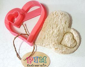 Heart in Heart cookie cutter 3D print model