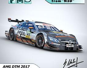 DTM AMG C63 2017 Maro Engel Silberpfeil 3D