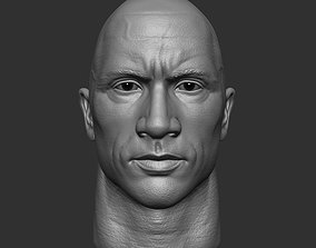 3D printable model miniatures Dwayne Johnson head sculpt