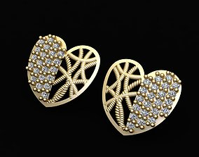 engagem 3D print model Heart Earring